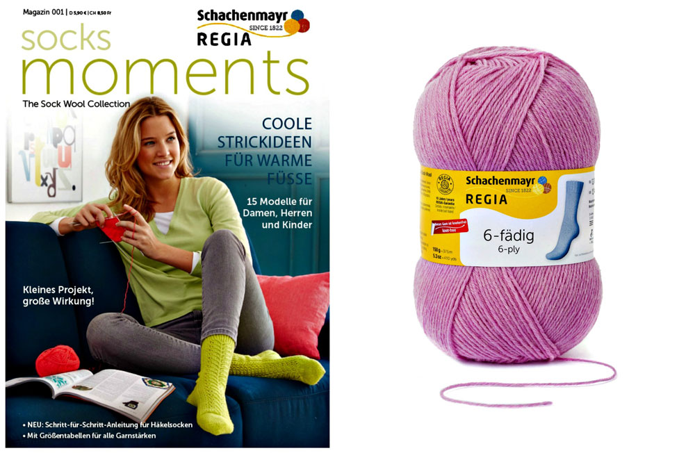 Regia Magazin - socks moments regia magazin 001 Verlosung: Regia Magazin 001 – Socks Moments plus passendes Regia-Garn