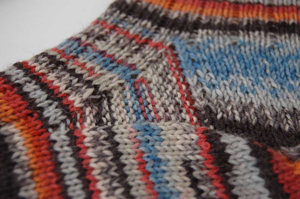 Toe Up Socken - Spickel  Anleitung: Toe Up Socken stricken aus 6fädigem Garn