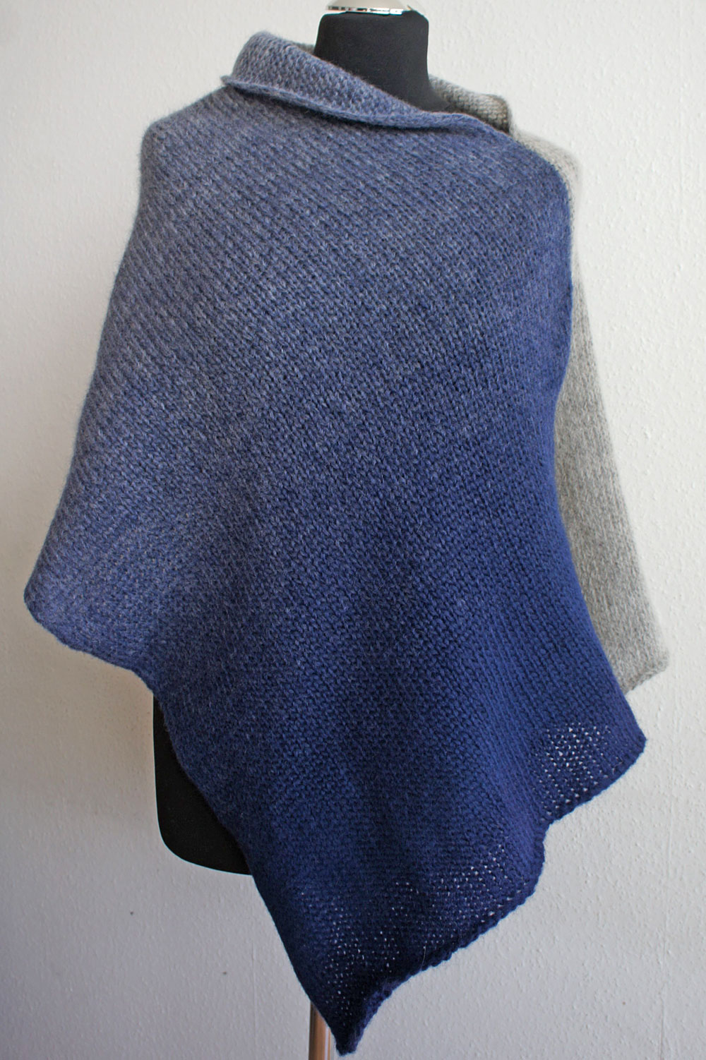 Poncho stricken - Studio Yarn poncho stricken Trendigen Poncho stricken – Anleitung
