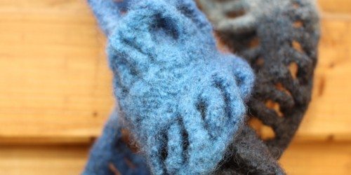 Schal aus Filwolle filzen in der waschmaschine Filzen in der Waschmaschine