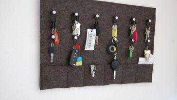 Geschenke Schlüsselbrett aus Filz schlüsselbrett Schlüsselbrett bauen aus Filz