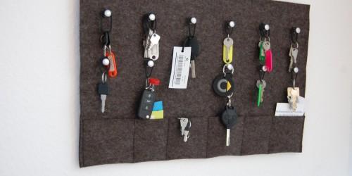 Geschenke Schlüsselbrett aus Filz wanddekoration Thema des Monats 12/2015: Nützliche und hübsche Wanddekorationen