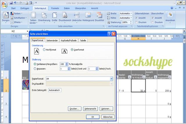 Screenshot1 Wollvorrat Wollvorrat katalogisieren mit Excel