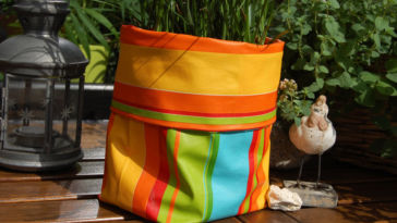 sewn planter planter for flowers handmade sewed