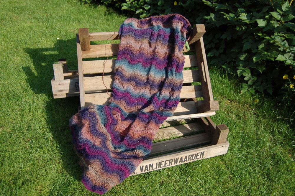 Gemacht mit Liebe und Wolle: Schal stricken mit Wellenmuster Schal Anleitung: Schal stricken mit Wellenmuster