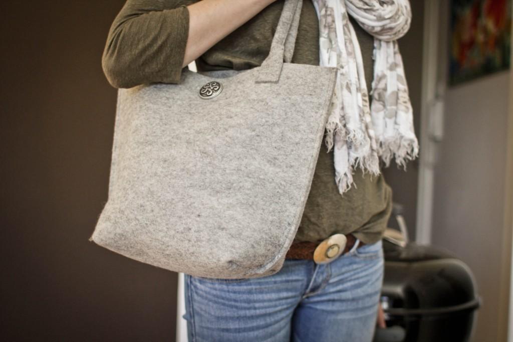 Filztasche Filztasche für ein bisschen Gepäck