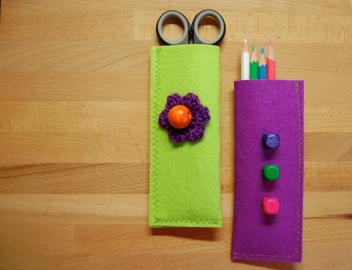 Filzetui für Strick- und Häkelnadeln sowie Stifte auf sockshype aufbewahrung DIY Aufbewahrung für Strick- und Häkelnadeln