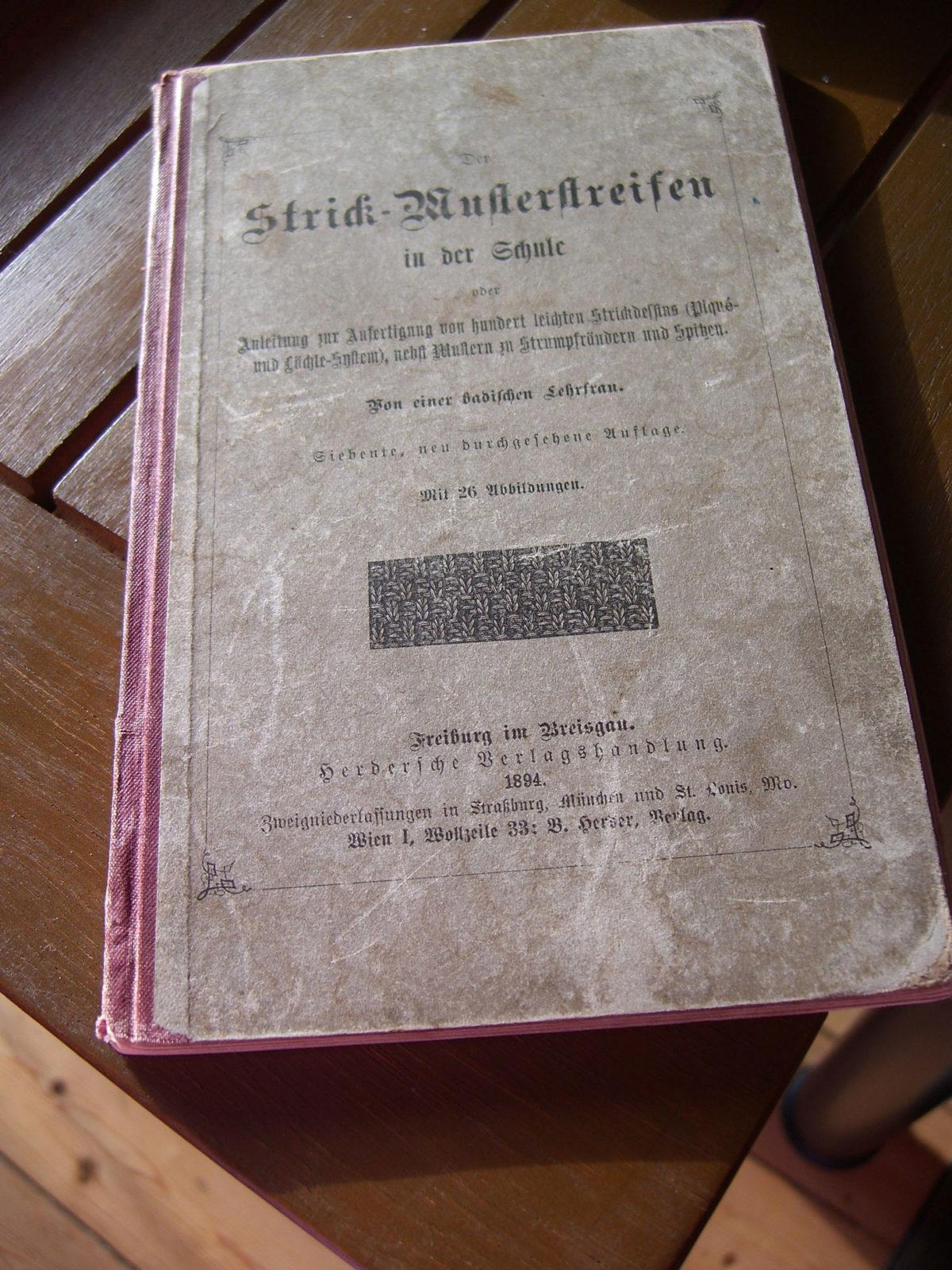 Buch badischer Lehrfrau strickmuster Martine liebt alte Strickmuster