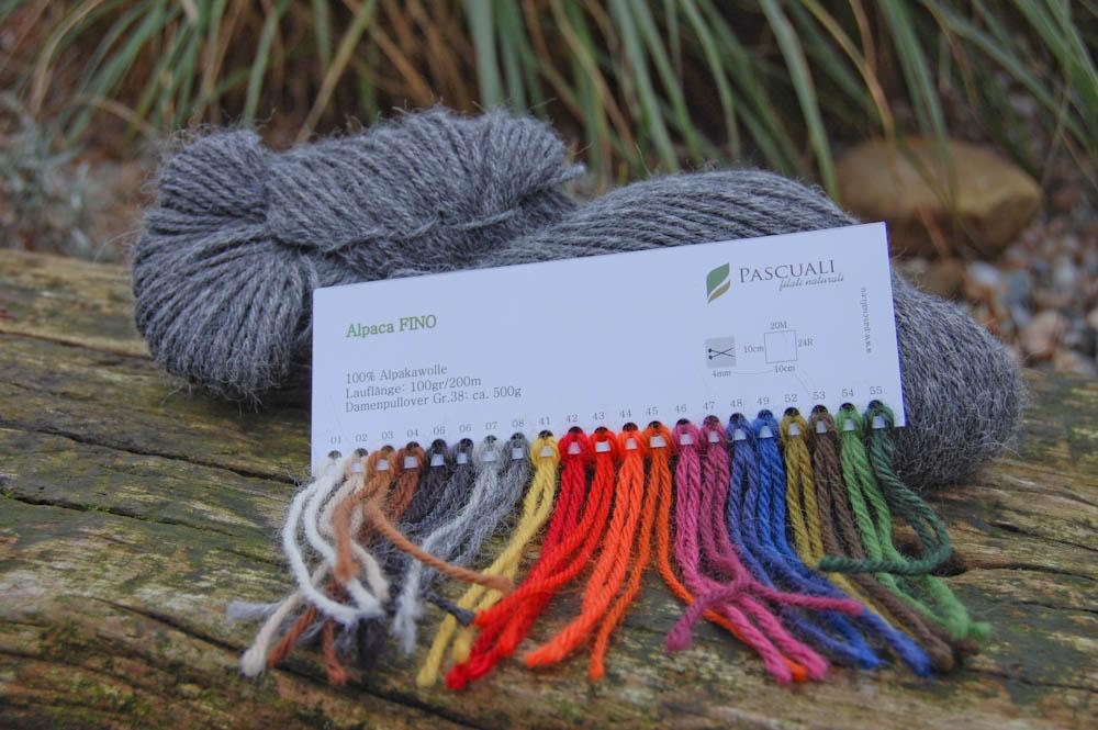 Wolle zum Schal stricken