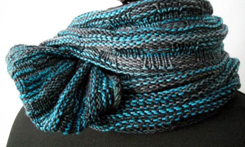 Snood Schal stricken auf sockshype Thema des Monats Oktober 2015: Tücher, Schals und Loops