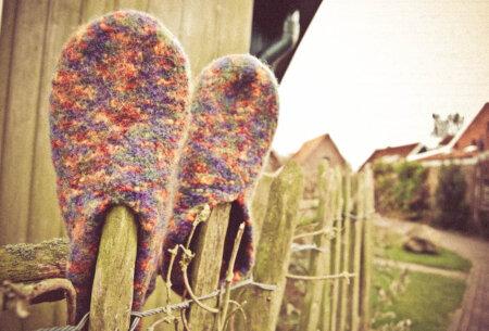 Gemacht mit Liebe und Wolle: Filzpantoffeln stricken