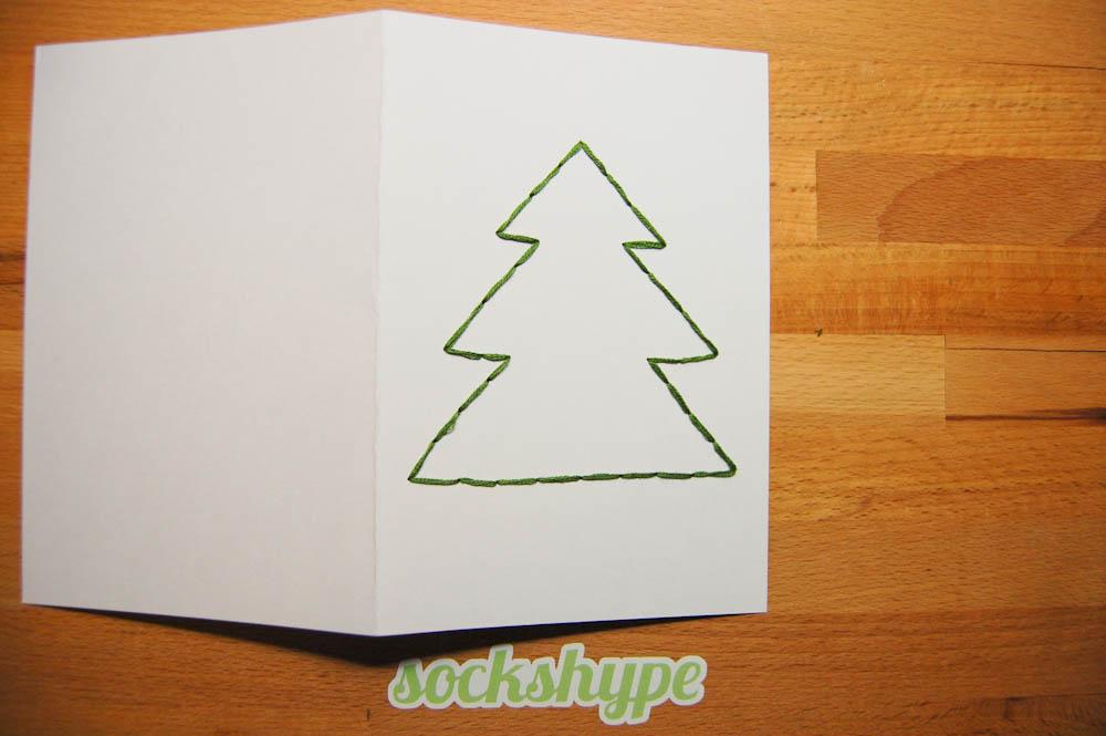 Weihnachtskarten selber machen auf sockshype