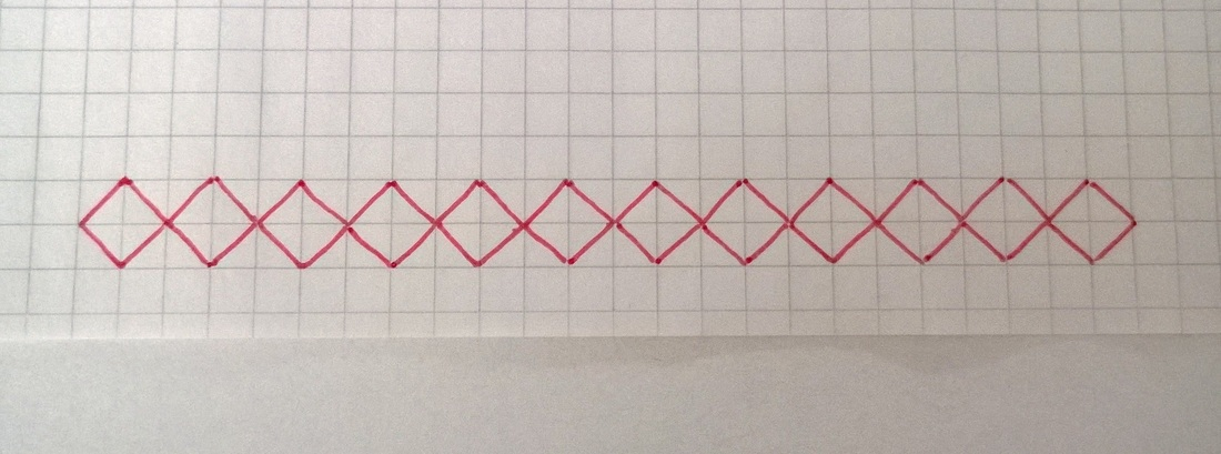 Schal im Entrelac-Muster