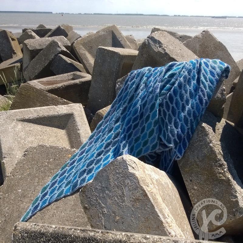 Tuch ocean blue tuch ocean blue Häkelanleitung – Tuch OCEAN BLUE von Jellina Verhoeff