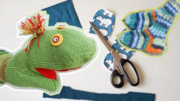Stricken für Kinder – Handpuppe aus Socken stricken