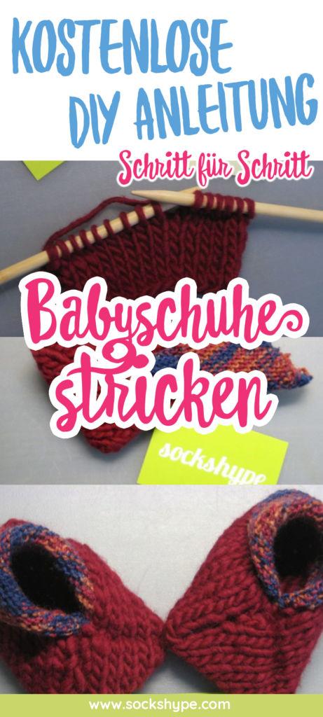 Babyschuhe stricken auf Filzwolle