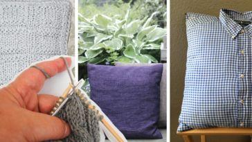 kissen stricken 8 dekorative Kissen stricken oder nähen – kostenlose Anleitungen