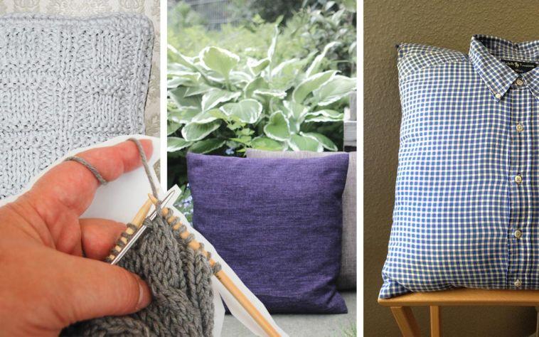 8 dekorative kissen stricken oder n hen kostenlose anleitungen. Black Bedroom Furniture Sets. Home Design Ideas