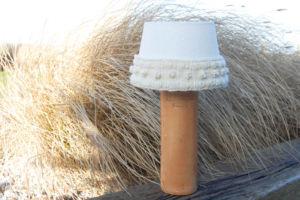Strickband für Lampenschirm strickband Anleitung: Strickband für Lampenschirm
