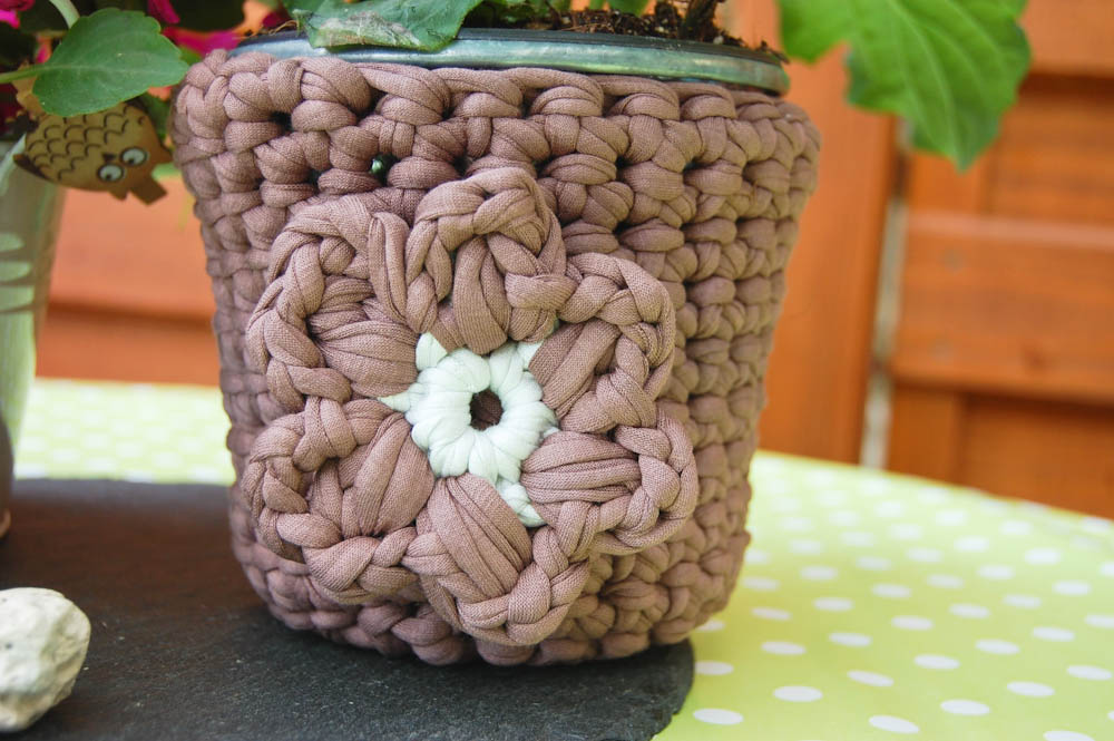 Sockshype Blumentopf Umhäkeln Mit Textilgarn
