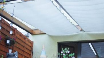 Sommer im Garten sonnenschutz für die terrassenüberdachung Sonnenschutz für die Terrassenüberdachung nähen