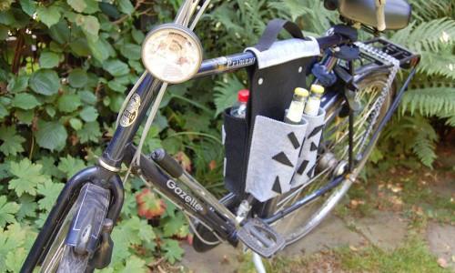 Fahrradtasche für 4 Flaschen-15 Geschenk selber machen, stricken, nähen oder häkeln – mit Anleitung
