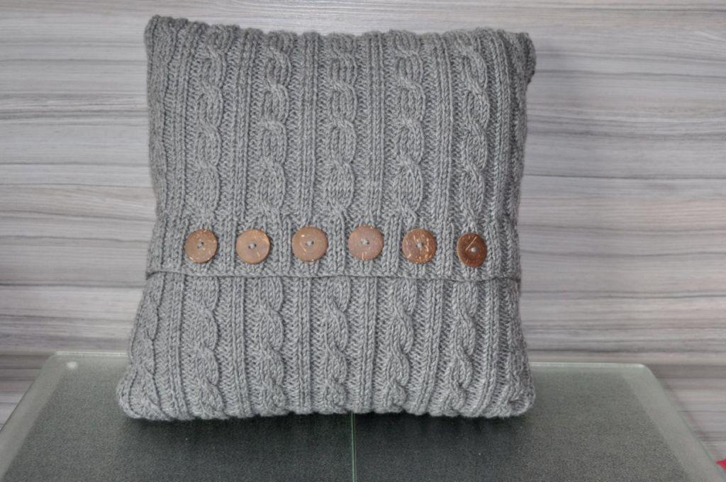 Kissen stricken nach Anleitung von sockshype Leserzusendung von Marina E