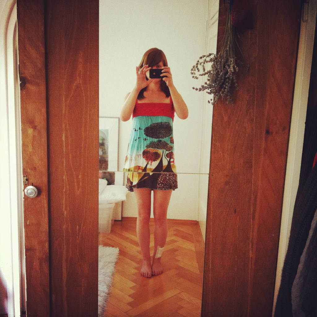 skirt-to-dress upcycled Skirt-to-Dress Upcycled by lalylala