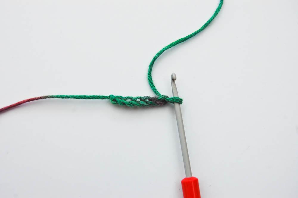 Ecke-zu-Ecke-Muster Schal häkeln