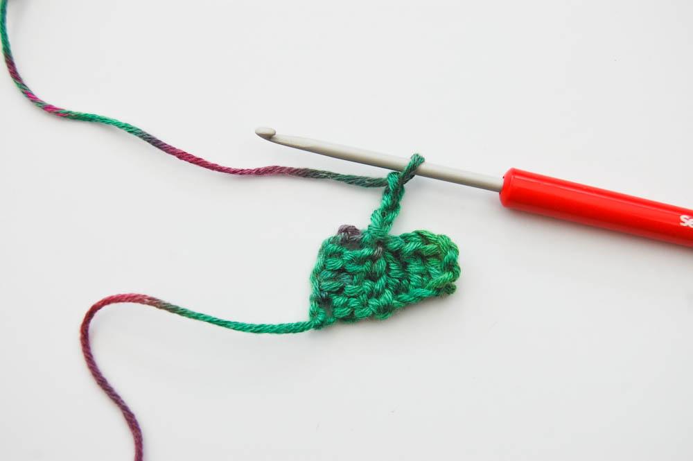 Ecke-zu-Ecke-häkeln Schal-Beginn 3tes Quadrat Schal häkeln von ecke zu ecke Anleitung: Schal häkeln im Muster Von Ecke zu Ecke