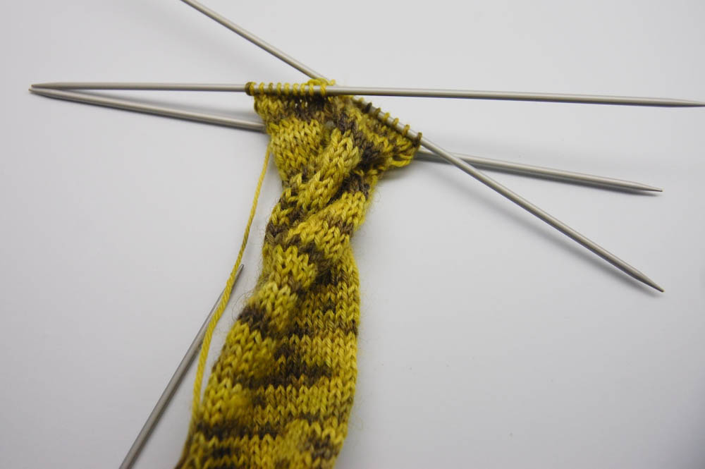 Knoten-Schal stricken-13