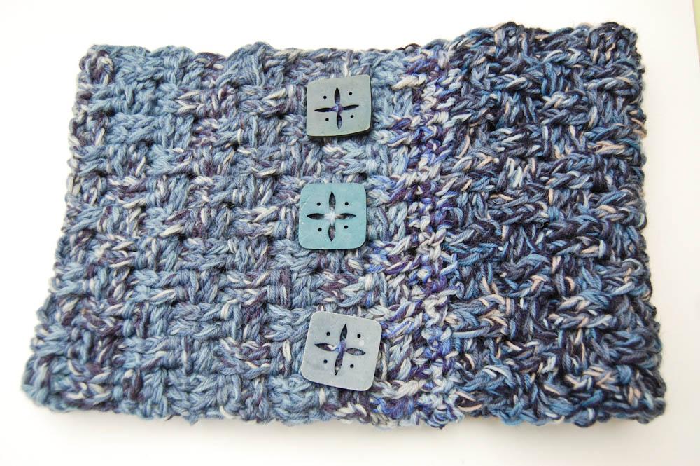 Loop häkeln aus Wollresten Loop häkeln Anleitung: Loop häkeln im Korbmuster aus Wollresten