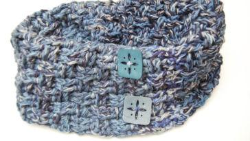 Loop häkeln Anleitung: Loop häkeln im Korbmuster aus Wollresten