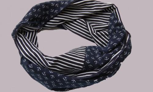 Loop-nähen-mediteran Geschenk selber machen, stricken, nähen oder häkeln – mit Anleitung