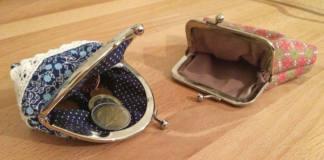 Taschenbügel Portemonnaie selbst nähen stricken sockshype