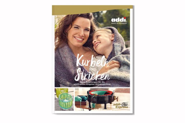 """Geschenke für Strickfans – Kurbeln statt Stricken (Buch) Verlosung: addiExpress Kingsize Buch """"Kurbeln statt Stricken"""""""