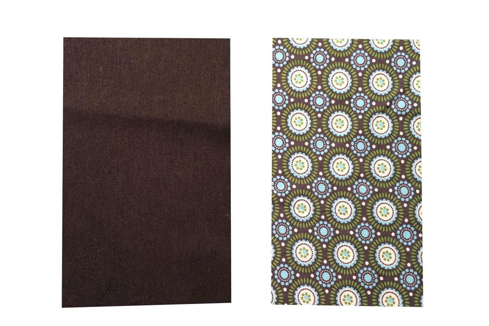 Schutzumschlag für Buch - Stoff zuschneiden