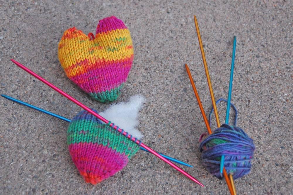 Herz stricken zum Valentinstag Herz stricken zum Valentinstag