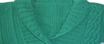 Männerpullover stricken - Schalkragen