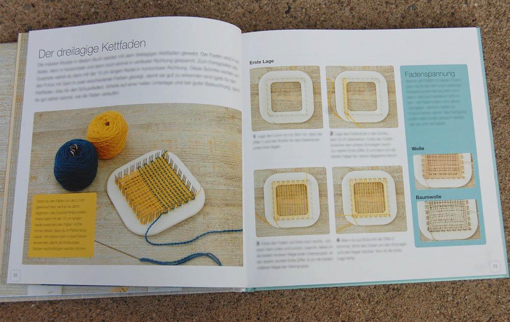 Minis weben mit dem Pin Loom - Einrichten des Looms Buchbesprechung: Minis Weben mit dem Pin Loom von Florencia Campos Correa