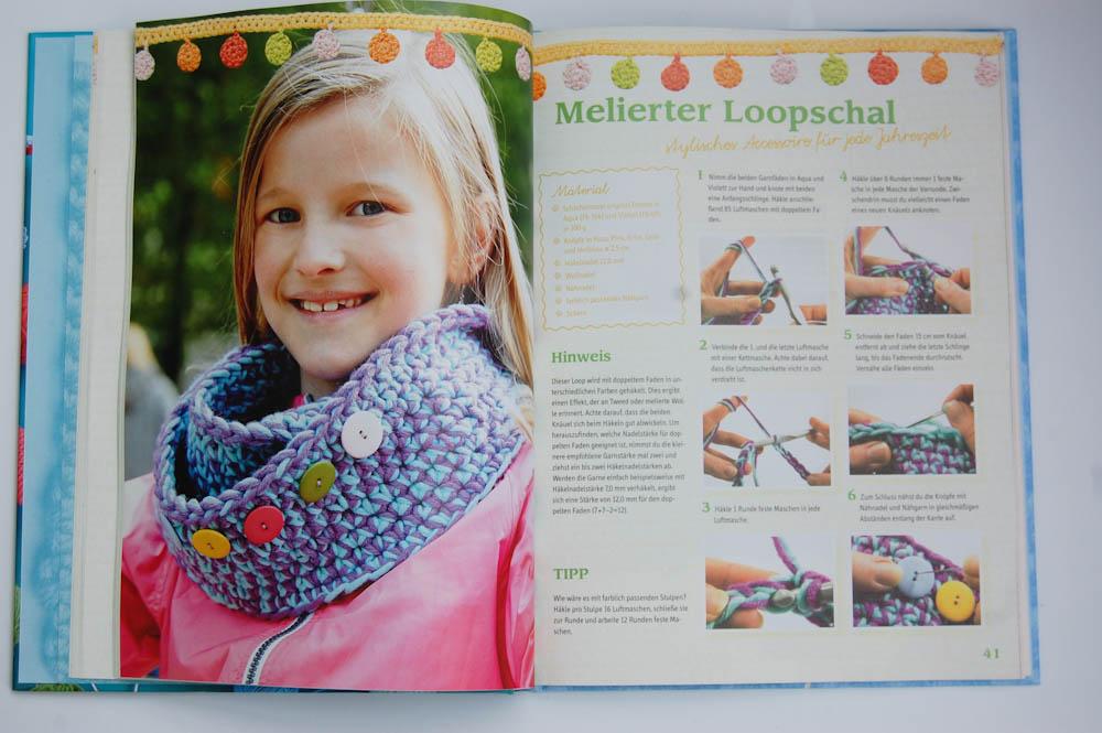 Häkel mit! - Neue Ideen aus der Kinderhäkelschule - Loopschal häkel mit! Buchbesprechung: Häkel mit! Neue Ideen aus der Kinderhäkelschule