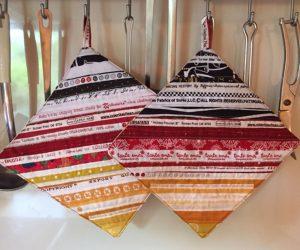Topflappen mit Webkanten ToLa topflappen 10 tolle Strick-, Häkel- und Nähanleitungen für Küche und Haushalt