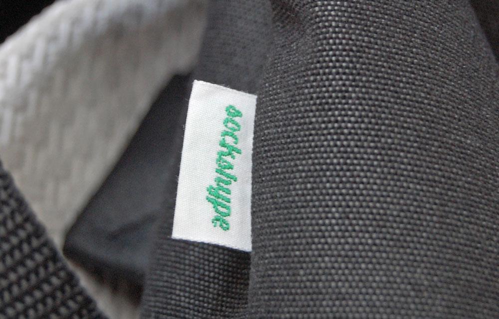 Rucksack nähen - eingenähtes Label
