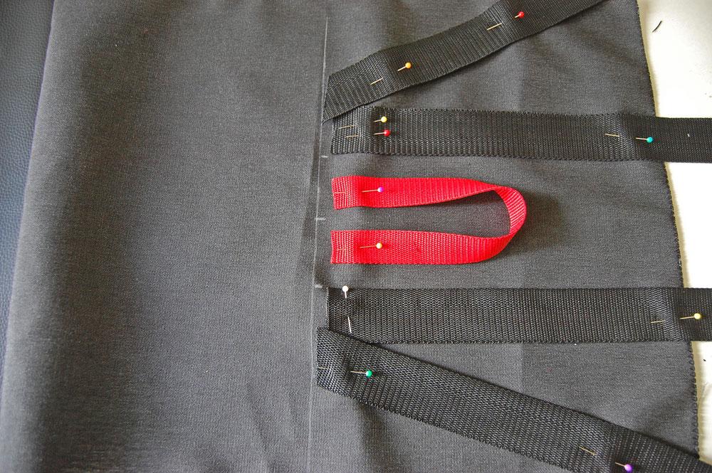 Rucksack nähen - Bänder anbringen rucksack nähen Rucksack nähen – Anleitung Schritt für Schritt