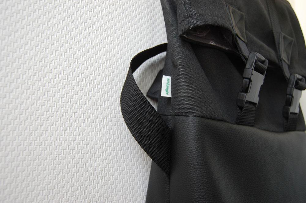 Rucksack nähen - Label einnähen