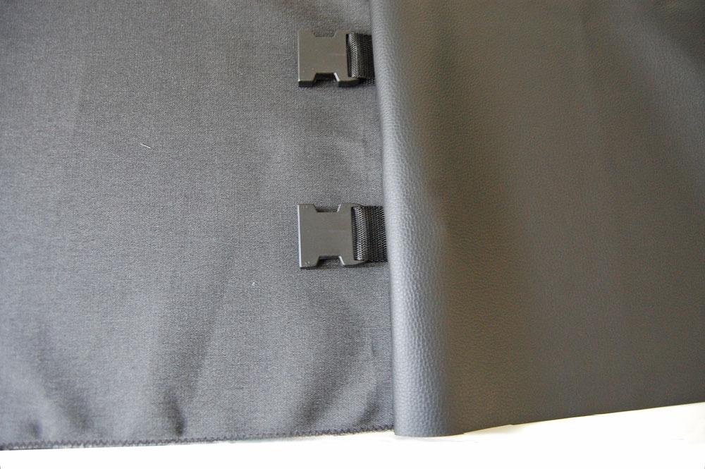 Rucksack nähen - Kunstleder aufklappen