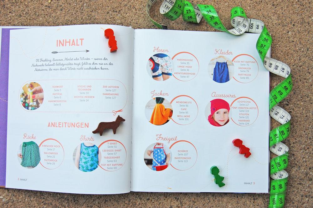 Kinderkleidung nähen ohne Schnittmuster - Inhaltsverzeichnis kinderkleidung nähen ohne schnittmuster Buchbesprechung: Kinderkleidung nähen ohne Schnittmuster von Kristin Ritschel