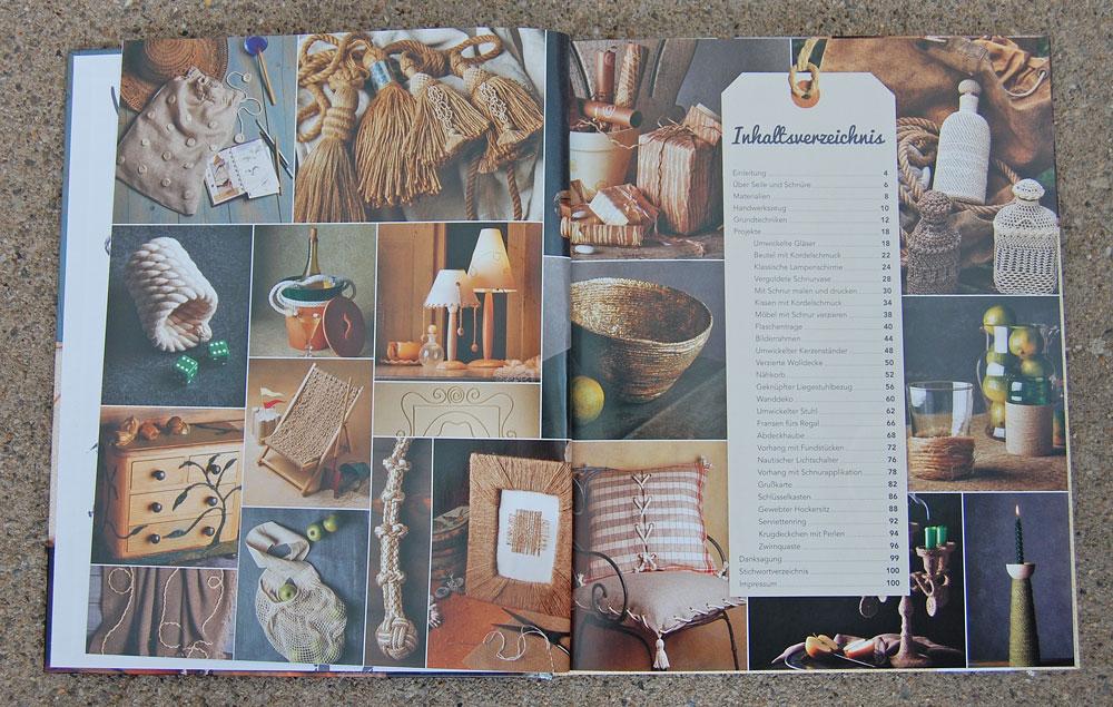 Kreativ mit Kordeln - Inhaltsverzeichnis kreativ mit kordeln Verlosung: Buch Kreativ mit Kordeln von Deena Beverly