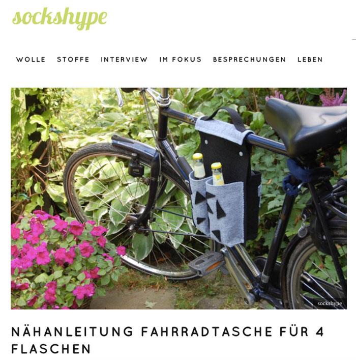 sockshype wird 5 Jahre alt - Fahrradtasche für Flaschen sockshype sockshype wird 5 Jahre alt
