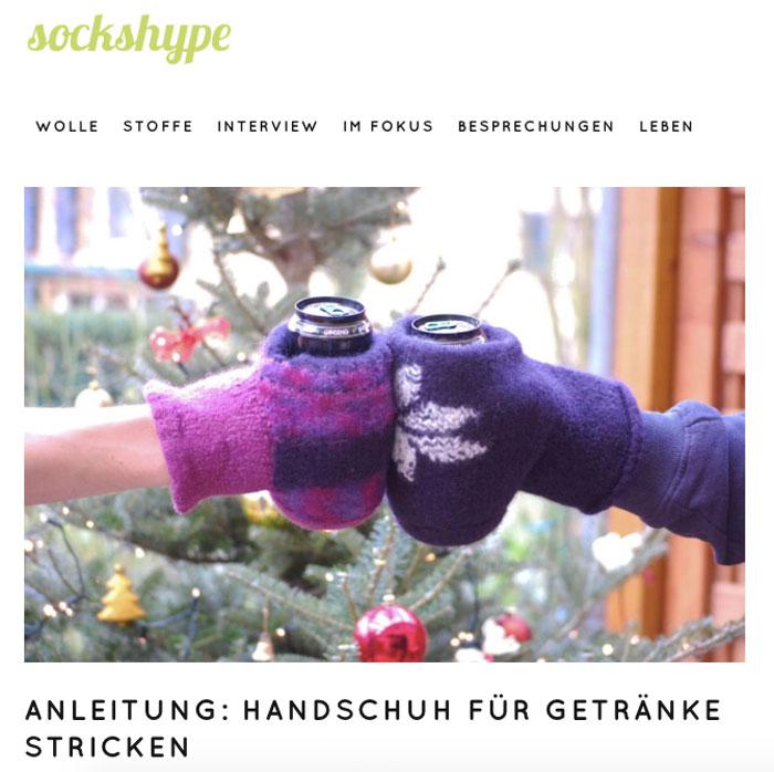 sockshype wird 5 Jahre alt - Gefilzter Handschuh für Getränke sockshype sockshype wird 5 Jahre alt